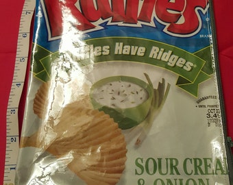Ruffles sour cream and onion upcycled chip bag