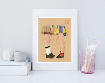 Gossip Girls - Giclée Art Print