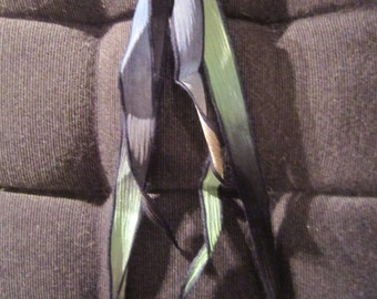 NECKLACE silver and silk