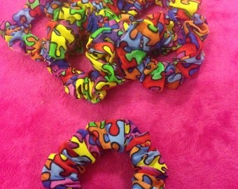 Autism Awareness Hair Scrunchies