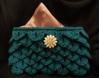 Handmade Crochet Clutch Purse