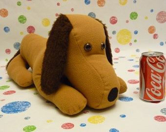 Dudley the Dog; Handmade, Customizable, Heirloom Quality Stuffed Animal From the Caedie Company