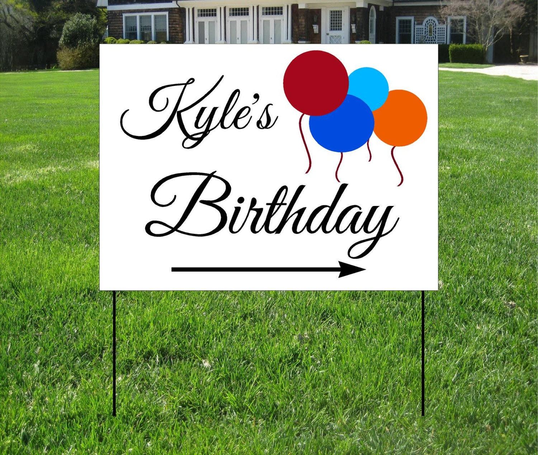 Birthday Yard Signs Birthday Baloons Yard Sign Custom Bag
