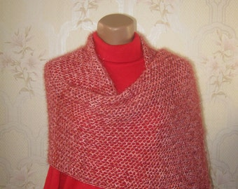 Lace shawl wrap, lace scarf, hand knit shawl, gift for her, shawl scarf