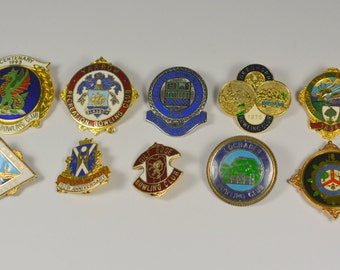 Badges Sport Thema Bowling Club 10 pieces