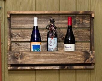 Rustic Meets Industrial Wine Rack