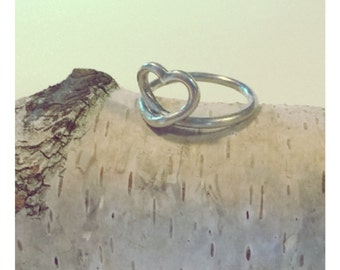 Heart ring, silver ring, heart, love, ring, silver, love