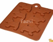 Taavi Scottie Dog Silicone Mold (Candy, Ice cubes, Finger Jello, Crayons) (T109)