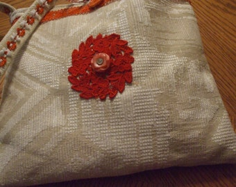 shoulder pocketbook handmade fabric purse with inside pockets
