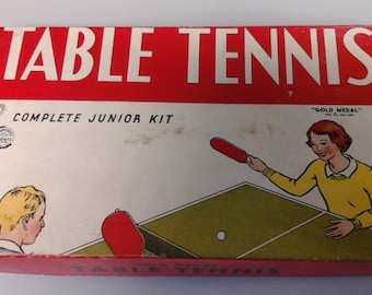 Gold Medal Table Tennis vintage Game 1930's Transogram Co toys children