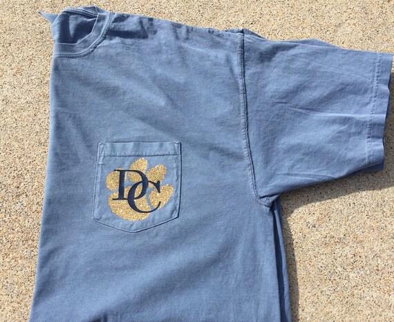 Custom teacher shirt teacher pocket tee by personaleffectsllc for Custom t shirts with pockets