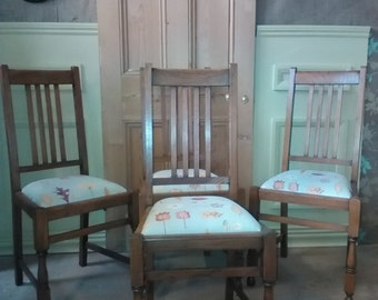 A set of four 1940's Oak Dining Chairs
