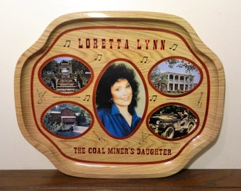 Vintage Loretta Lynn Tin Serving Tray