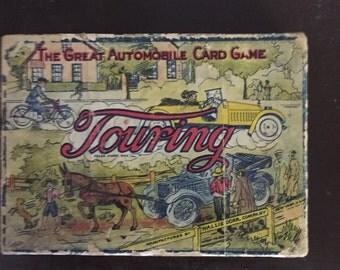 Vintage 1924 Parker Brothers Touring Card Game