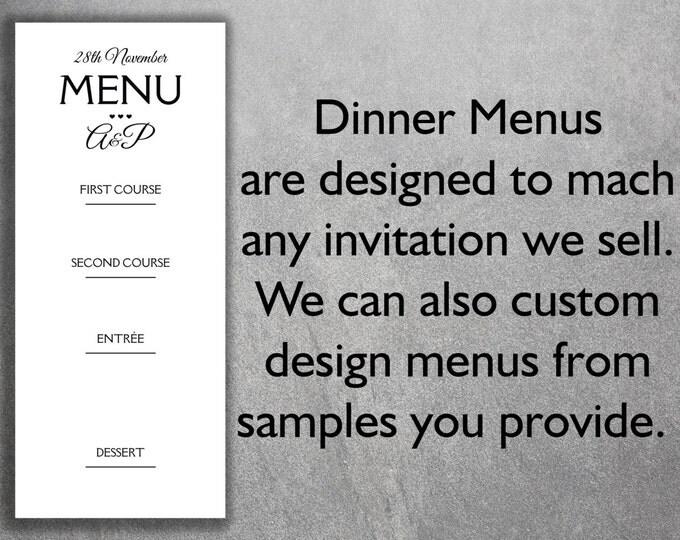 Affordable Wedding Reception Dinner Menus Add-on - Cheap Wedding Reception Dinner Menus ,Unique, Custom, Simple, DIY, Classic