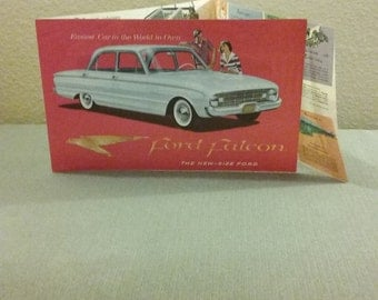 1960 Original Ford Falcon Dealer Sales Brochure, Excellent Condition