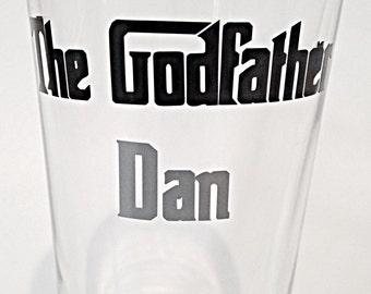 Godfather gift, Godfather wine glass, Christening gift, Baptism Godparents, gift for godfather, baptism gift, godfather glass