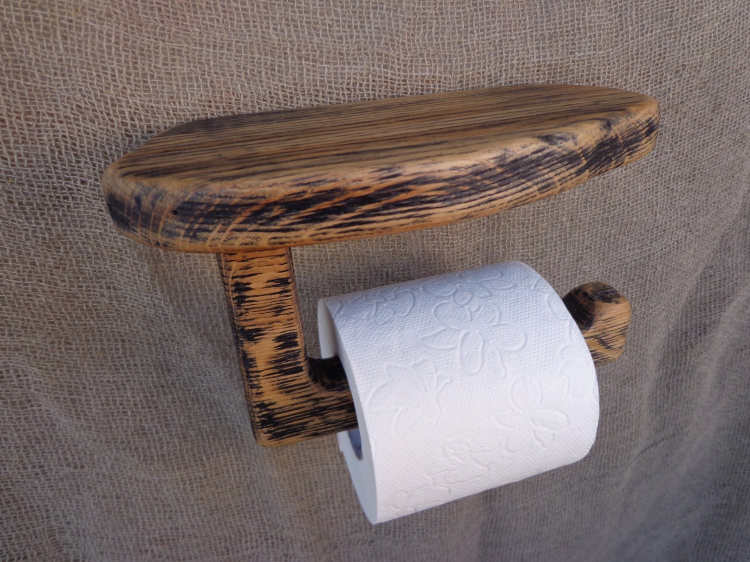 Wooden Toilet Paper Holder Rustic Wood Paper Holder Wooden