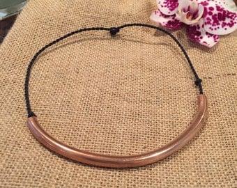 """Copper """"Half Moon"""" Necklace"""