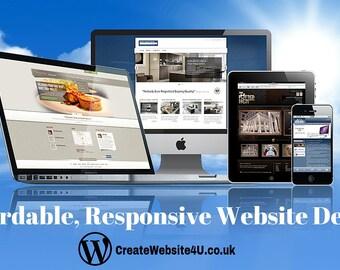 Custom Website Design - Affordable Professional Responsive Websites for any Business!