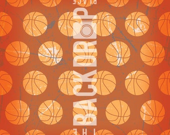 Large Photography Backdrop-Basketballs -5'x5', 5'x6', 5'x7', 5'x10'