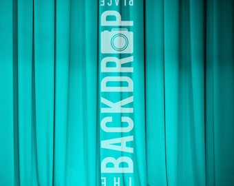 Large Photography Backdrop - Blue Curtain - 5'x5', 5'x6', 5'x7', 5'x10'