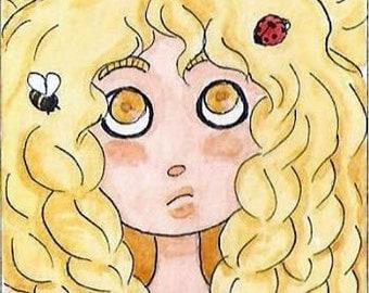 "Bookmark ""Golden Hair"""