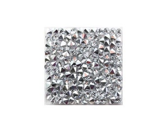Puck rock Crystal square Swarovski Crystal 15-19-27 mm (cal on ab)