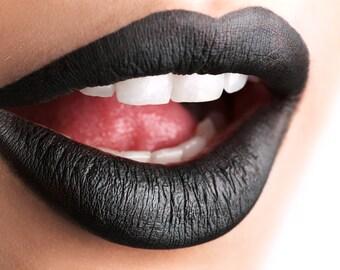 Black Matte lipstick  - Blackest Black