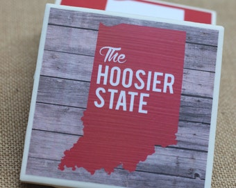 Indiana / Indiana Coasters / Hoosier / Indiana Hoosier State / Indiana Gift / Indiana Coaster / Hoosier Coasters / Hoosier / Indiana Decor