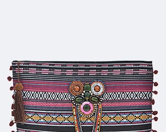 Bohemian Chic Clutch/Wallet/Stylish/Evening Clutch/Travel Clutch