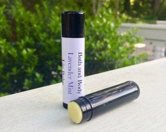 Lip Balm, Lavender Mint Lip Balm, SPF Lip Balm, Lavender Lip Balm, Mint Lip Balm, Lavender Mint, Lavender, Mint, Chapstick, Mint Chapstick
