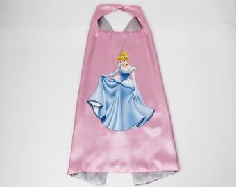 Cinderella, Cinderella cape, girls cape, Princess cape, pink cape