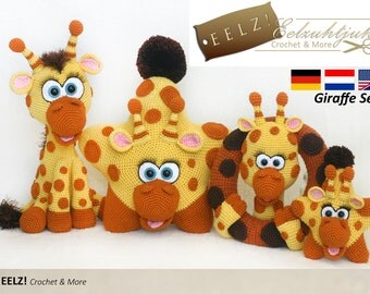 Giraffe Serie - 4x Crochet Pattern