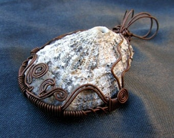 Shell and Copper Wire Wrap