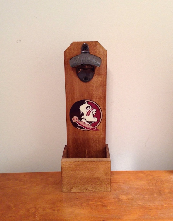 wall mounted bottle opener florida state by mancavesports on etsy. Black Bedroom Furniture Sets. Home Design Ideas