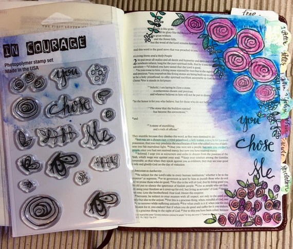 Polymer Clear Stamp Set Chosen Perfect For Journaling Or