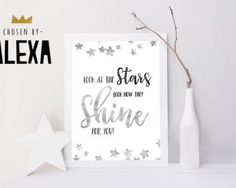 Look at the Stars  - Handmade Print