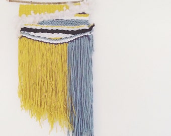 Mustard & Green Weave - Woven Wall Hanging