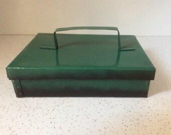Green Vintage Metal Box