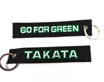 Unvisersal Takata KeyChain GO FOR GREEN Fit for All Cars-Black