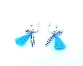 Earrings feather