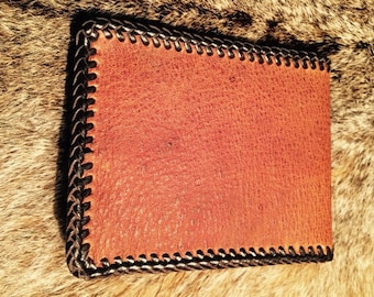Mens Deerskin Wallet, Bifold Wallet, Laced Wallet, Gift for Men
