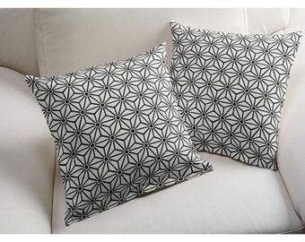 1 Pillow cover - Black White - Geometric
