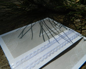 Handmade Ivory wedding invitation