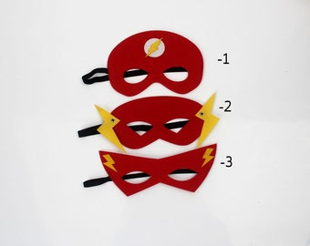 Boys Flash mask Flash Costume, Flash Costume, Flash Cosplay, Flash mask Boys  halloween costume, Superhero Party Favors