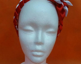 Red and white hair accessory