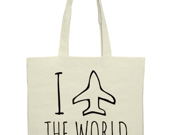 I Travel The World Tote Bag