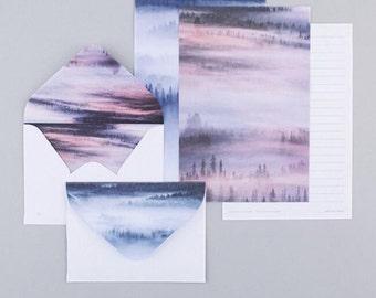 Misty Forest Letter Set, Letter Envelopes - LT009