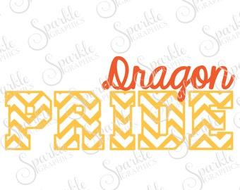 Dragon Pride Cut File Dragon svg Dragon Mascot  Mascot svg High School Clipart Svg Dxf Eps Png Silhouette Cricut Cut File Commercial Use